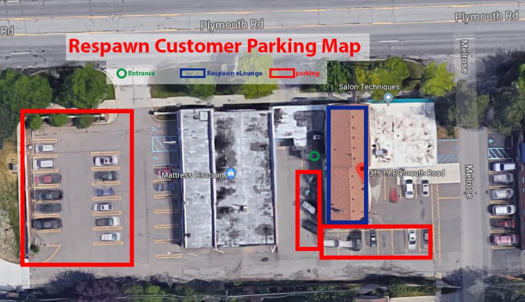 Respawn eLounge Parking Map